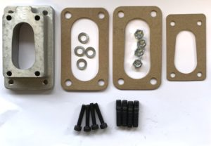 SUBARU / NISSAN / DATSUN / HONDA CIVIC / ACCORD WEBER CARBURETTOR MANIFOLD ADAPTER PLATE KIT