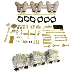 TRIPLE WEBER DCOE CARBURETXEA KIT CLASSIC TRIUMPH TR6 6-CYL ENGINE