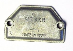 WEBER DCOE/DCO/SP TWIN CARBS - CHOKE/COLD START BLANKING PLATE