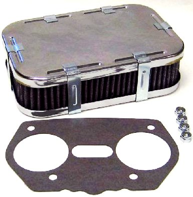 WEBER IDF/DELLORTO DRLA 36/40/44/45/46/48 CARBURETTOR AIR FILTER/CLEANER KIT (45mm)