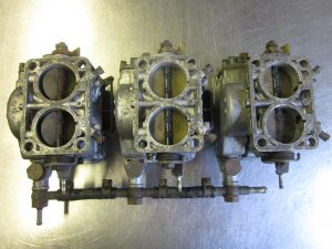 Restoration/Refurbishment/Service Process for Triple Ferrari DINO 246 WEBER 40 DCNF 13 Carburettors