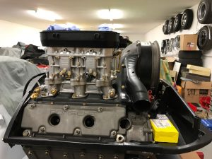 Porsche 911 WEBER IDA Triple Carbs - restored and now on engine