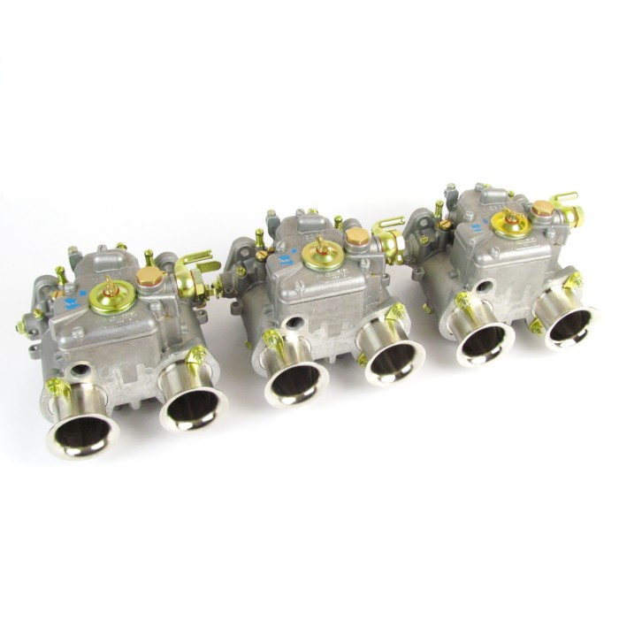 GENUINE WEBER 40 DCOE CARBURETTORS - TRIPLE SET TIL 6-CYL IN-LINE ENGINES