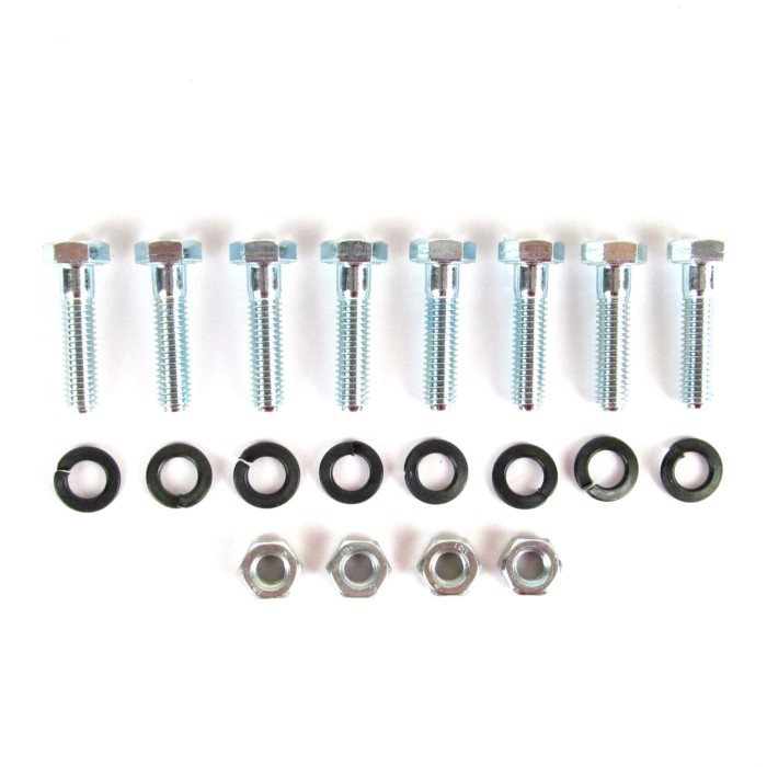 Dellorto DHLA Twin Carbs/Carburettors - Trumpet Fixing Nuts, Bolts & Washers KIT