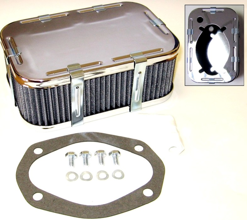 WEBER DFAV / DFV / DFEV TWIN kaheastmeline CARB AIR FILTER KIT (63mm TALL)