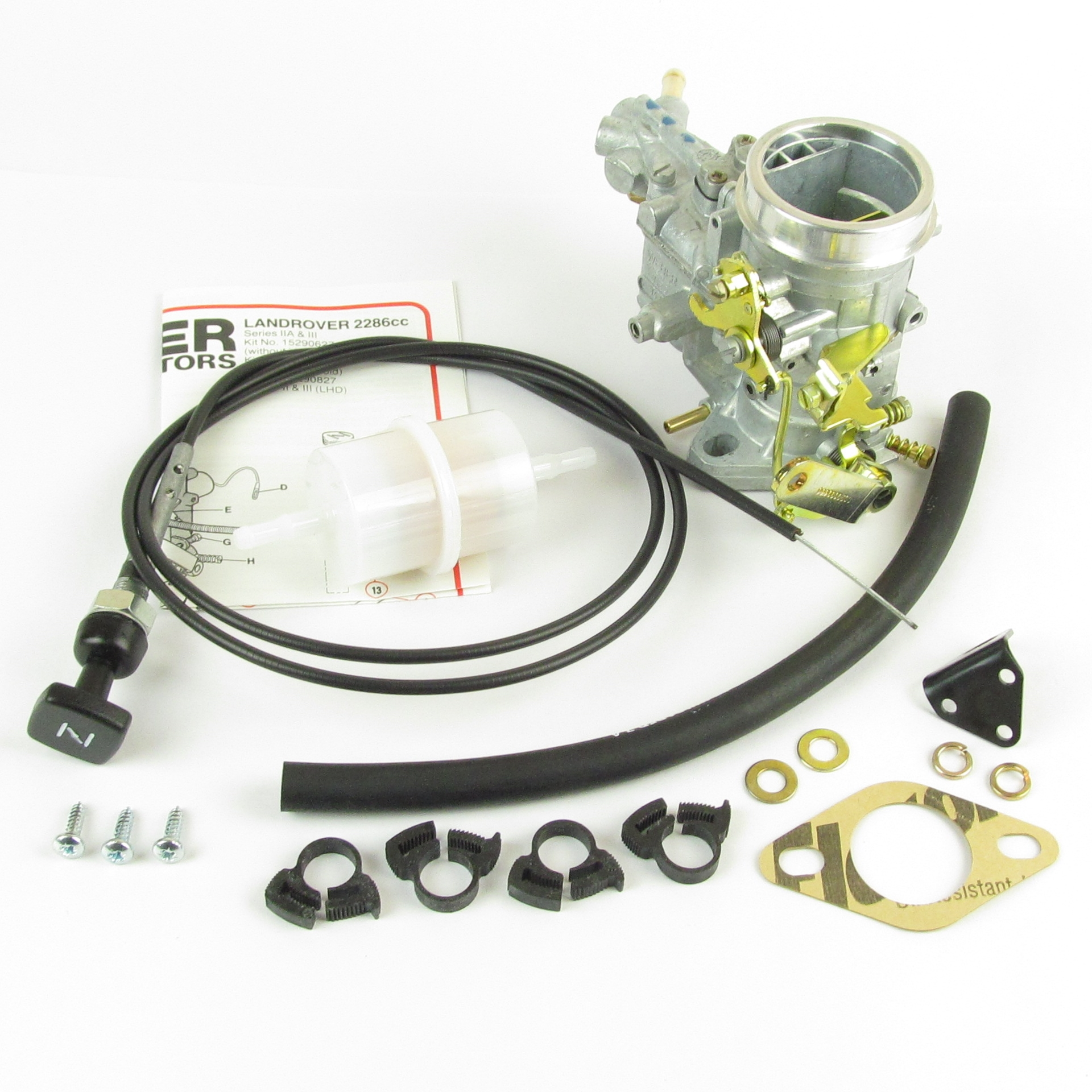 WEBER 34 ICH CARBURETTOR CONVERSION KIT FOR LAND ROVER SERIES 2A & 3