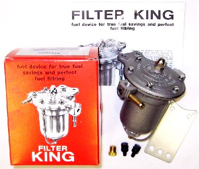 WEBER / DELLORTO / SOLEX TWIN CARBS MALPASSI FILTER KING BRÄNSLE TRYCK REGULATOR