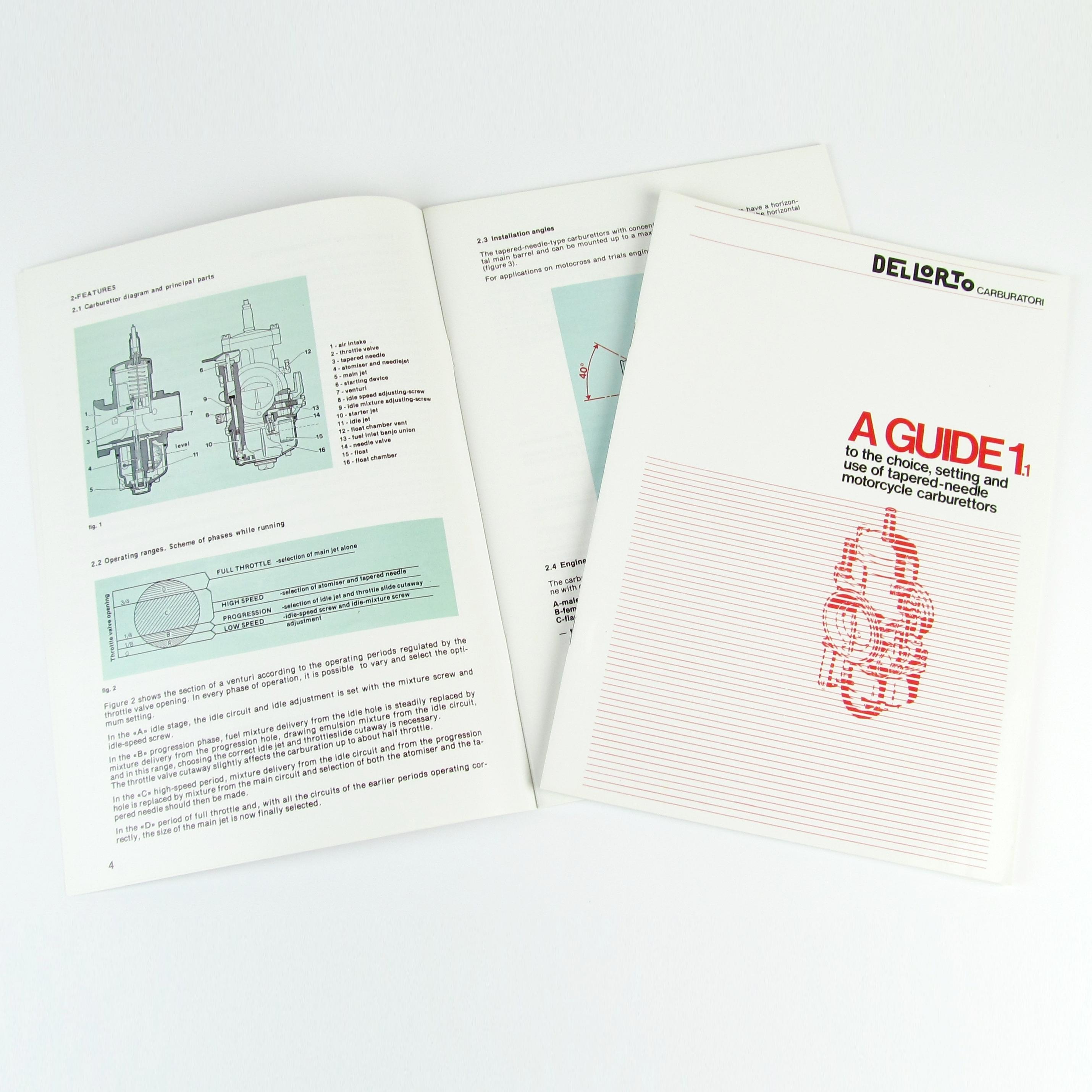 DELLORTO VHSB / PHBG / PHBL / PHBH / PHBE / PHF / PHM CARB TUNING手册/书
