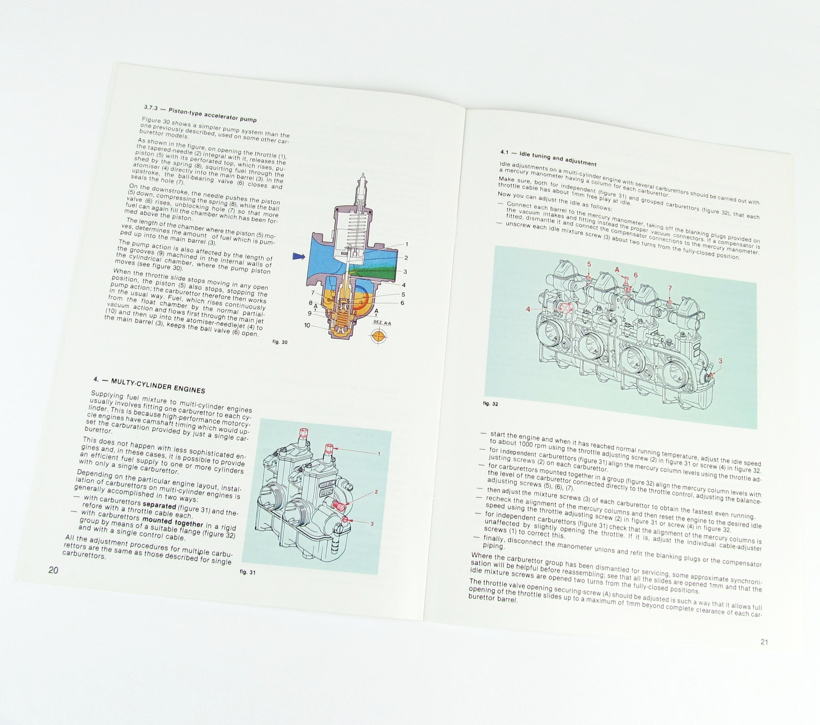 DELLORTO VHSB/PHBG/PHBL/PHBH/PHBE/PHF/PHM CARB TUNING MANUAL/BOOK