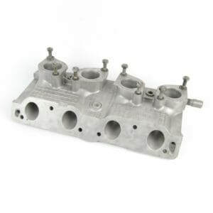 Fiat Twincam 'WAFFLE' Inlet manifold to suit twin WEBER/DELLORTO 40 IDF/DRLA Carbs