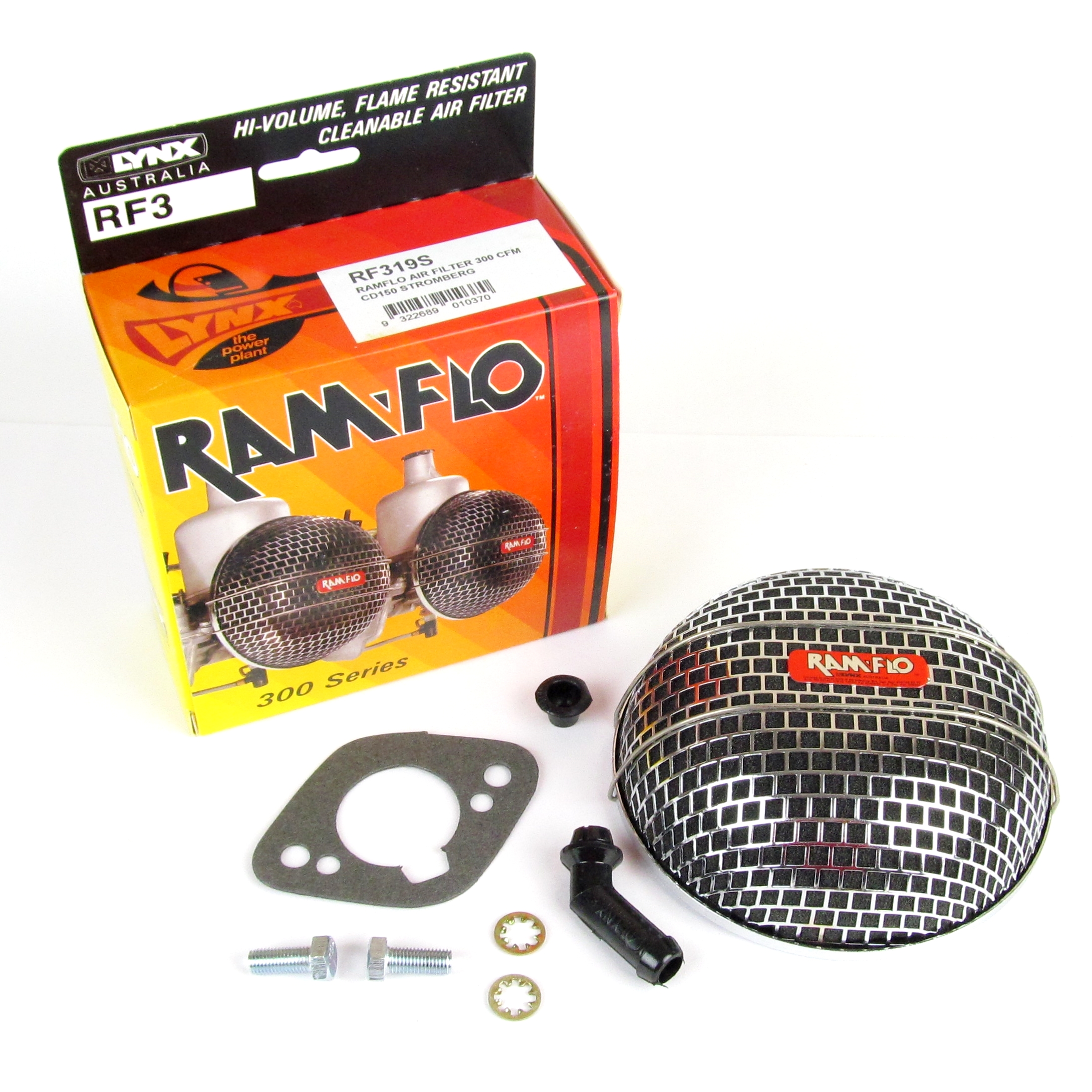 LYNX RAMFLO AIR FILTER FOR CLASSIC STROMBERG-ZENITH CD150 CARBS