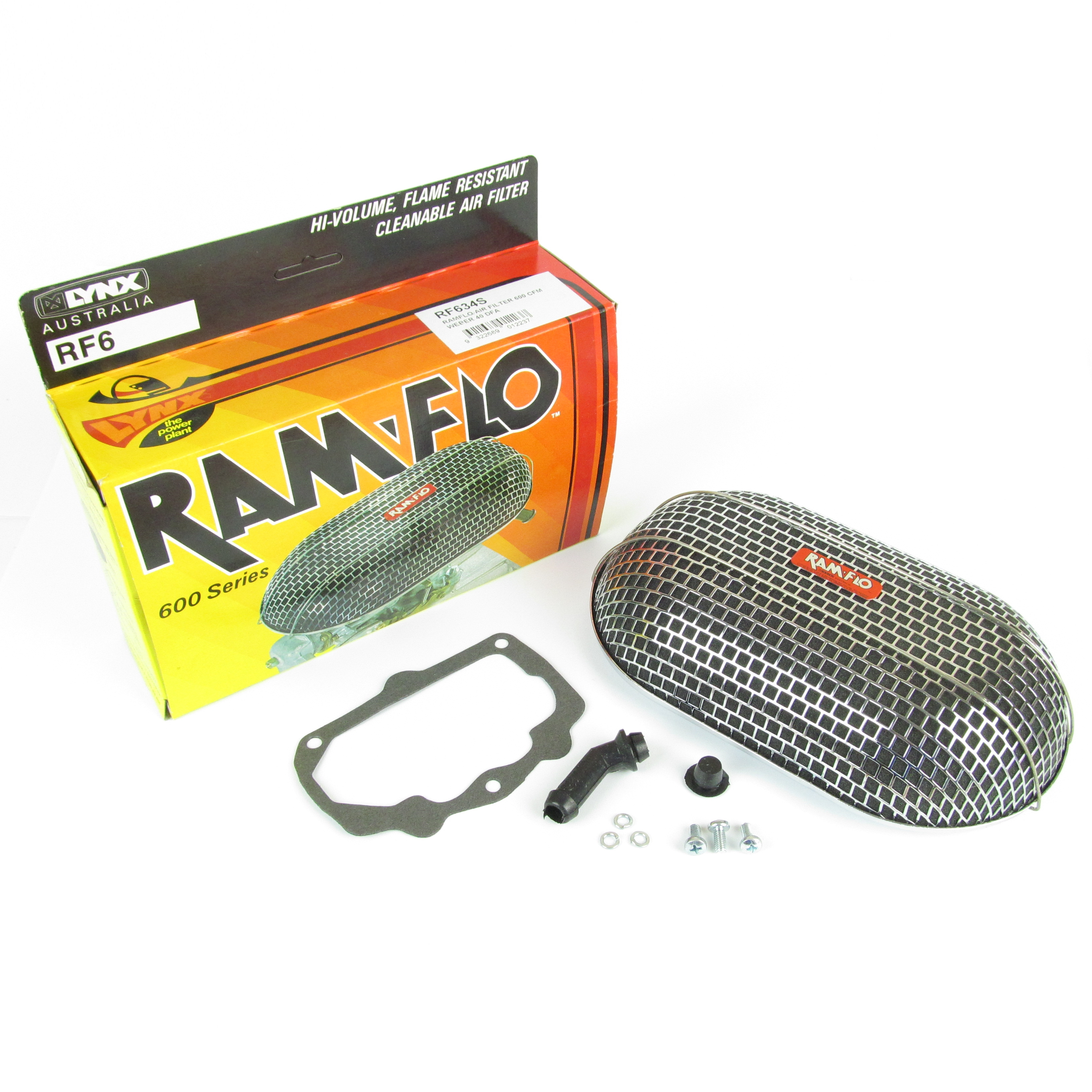 LYNX RAMFLO AIR FILTER KIT WEBER 40 DFAV CARB CLASSIC FORD V6 ENGINE ETC