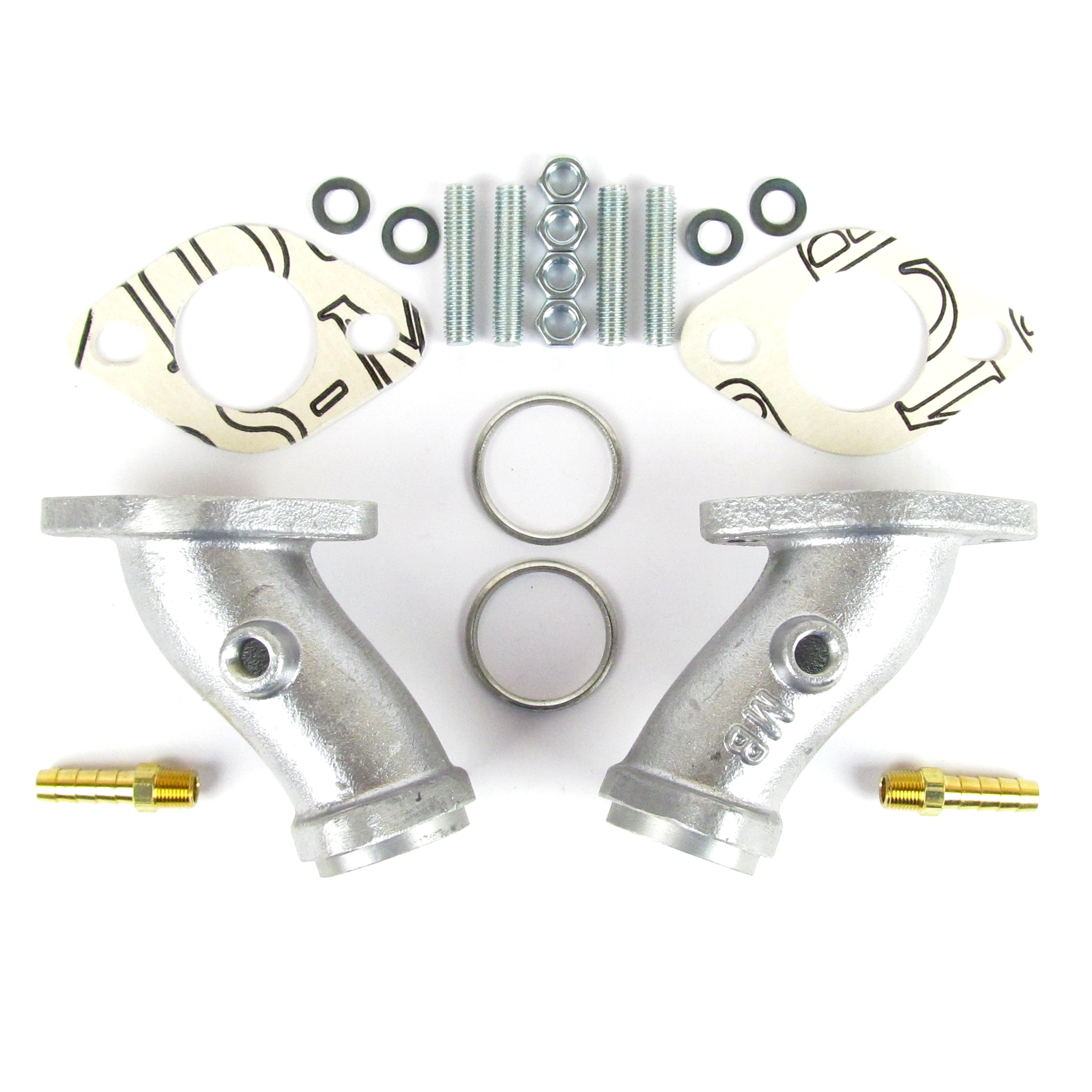 Air-Cooled VW Beetle/Camper Type 1/T1/T3 Single-Port WEBER 34 ICT Inlet Manifold KIT
