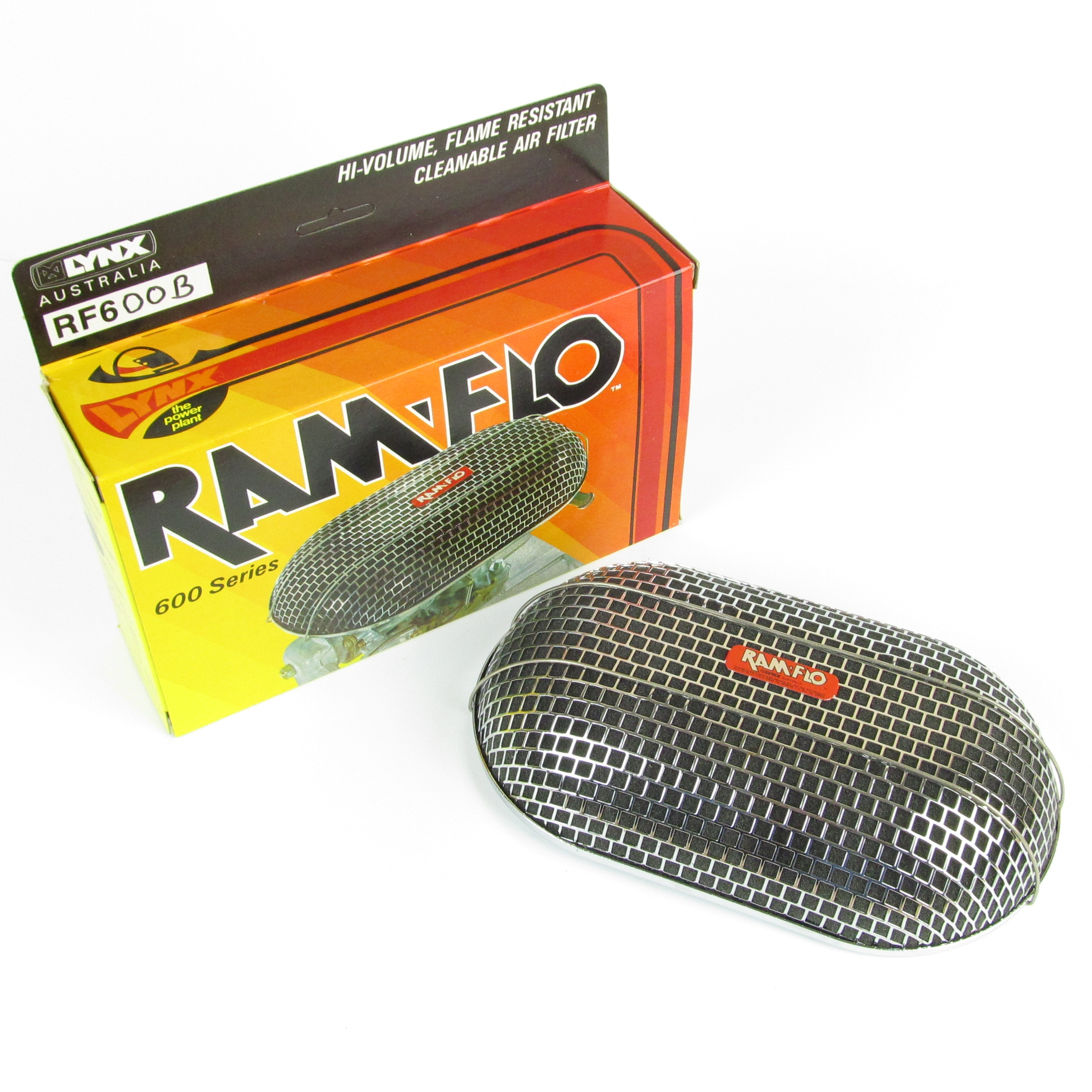 LYNX RAMFLO CARBURETTORIA AIRE FILTER / CLEANER WITH BLANK DIY 'BACKPLATE / CONSTRUVIVE SU PROPIO