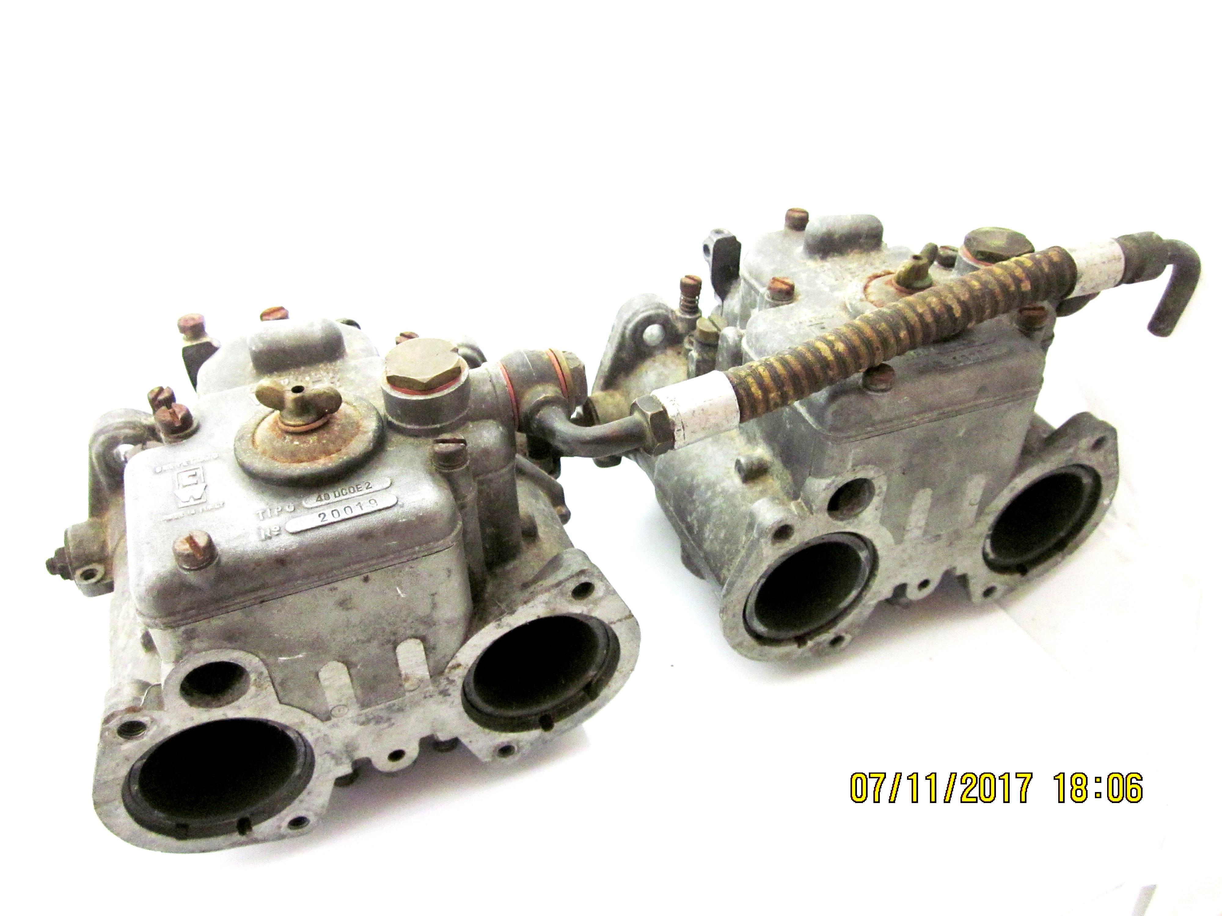 זוג מקורי אלפא רומיאו ג 'ולייטה Veloce וובר 40 DCOE 2 Carburettors