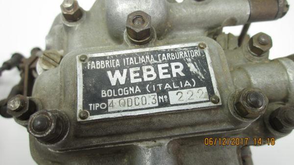 PAIR WEBER 40 DCO3 CARBURETTORS ALFA ROMEO GIULIETTA SPRINT VELOCE