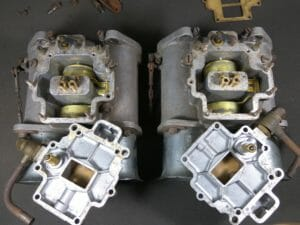 Original, Rare Italian Made Pair WEBER 58DCO3 Sandcast Carburettors For Sale