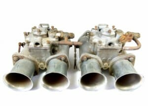 Original, Rare Made Italian Pair WEBER 58 DCO3 Sandcast Carburettors For Sale