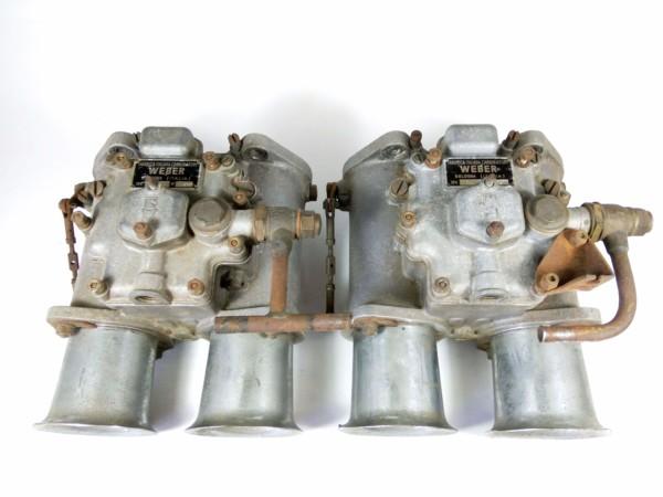 Originalna, retka italijanska proizvedena para WEBER 58 DCO3 Karburatori za peskarenje Za prodaju