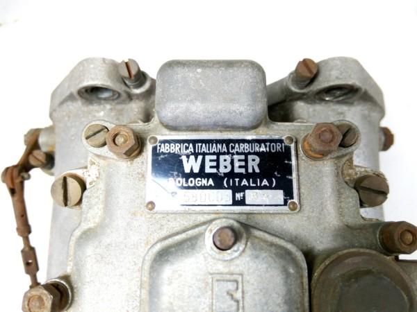 Original, Rare Italian Made Pair WEBER 58 DCO3 Sandcast Carburettors For Sale