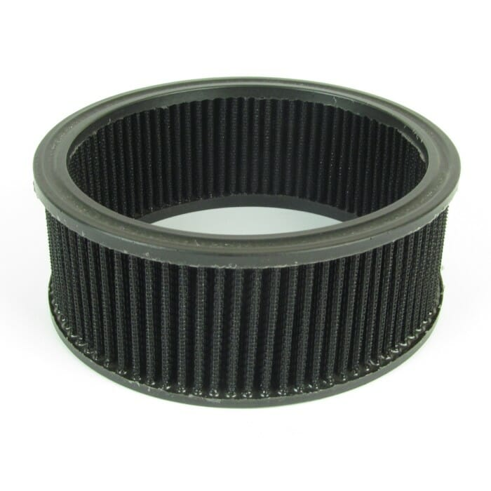 Replacement Oval 63mm air filter element. Suits various popular Air filter Brands