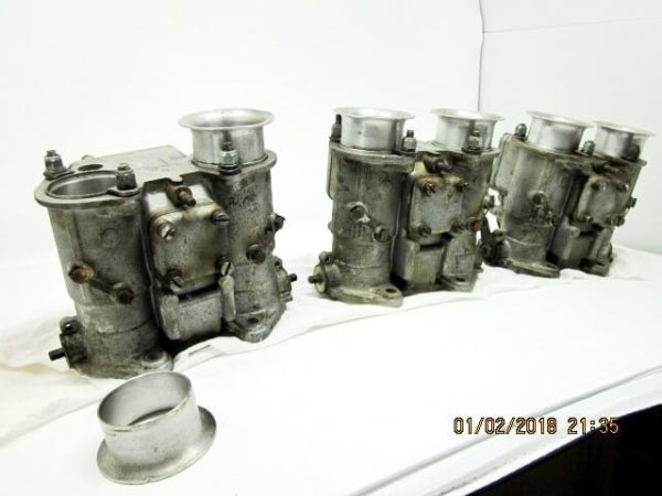 WEBER 45 DCOE 13 TRIPLE SET CARBURETORS JAGUAR XK / BMW / DATSUN / NISSAN