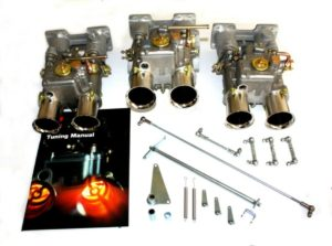 ASTON MARTIN DB4 / DB5 / DB6 6CYL DZINĒJS TRIPLE WEBER 45 DOOE CARBURETOR KIT