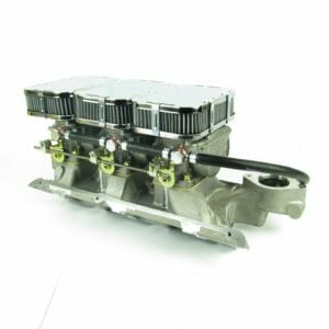 FORD 'ESSEX' V6 3LTR TRIPLE WEBER 40 DCNF CARBURADOR CONJUNTO DE ENLACES Y MANIFOLD