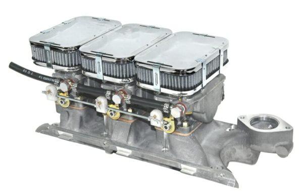 FORD 'ESSEX' V6 3LTR TRIPLE WEBER 40 DCNF CARBURETOR LINKAGE & MANIFOLD KIT