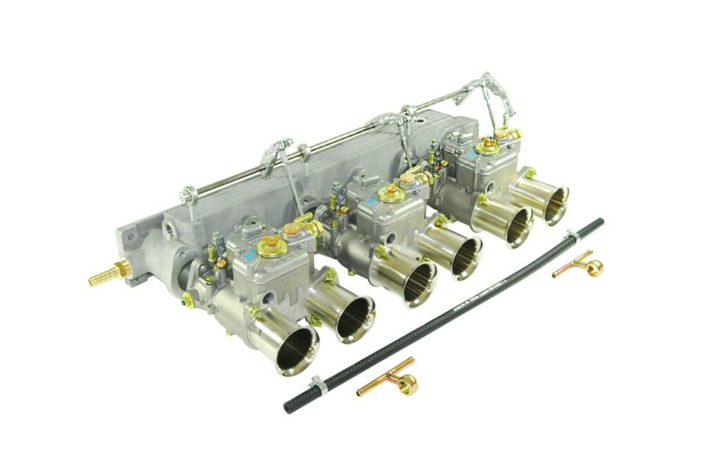 JAGUAR 3.8/4.2 E-TYPE 6CYL ENGINE TRIPLE WEBER 45 DCOE CARBURETOR KIT