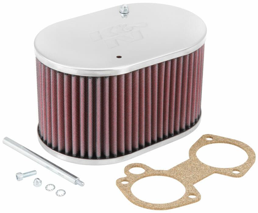K/&n boulon sur carburateur filtre à air-weber 32//36 dgv//dgav grand ovale 45mm