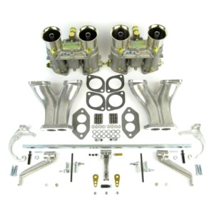 VW T1 TYPE-1 MOTOR TWIN WEBER 48 IDA CARBURADOR Y MANIFOLD KIT