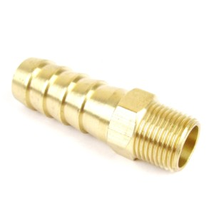 3/8″ BSPT x 5/8″ (16mm) Brass Hose Tail Fitting Fuel/Vacuum Union