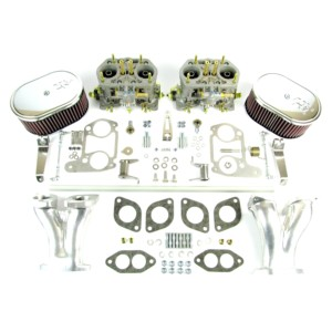 VW AIRCOOLED ENGINE TYPE 1 WEBER IDF 40 CARBURETTOR & MANIFOLD KIT (K&N)