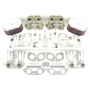 VW TYPE 4 AIRCOOLED ENGINE WEBER IDF 40 CARBURETTOR Y MANIFOLD KIT (K & N)