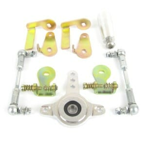 FORD / CLEVELAND / CHEVROLET V8 MOTOR WEBER 48 IDA THROTTLE LINKAGE KIT