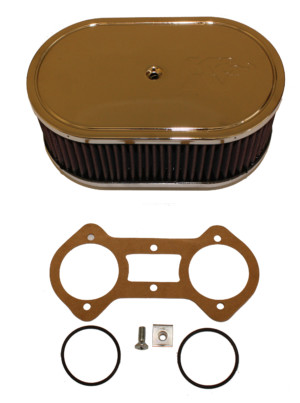 WEBER 48 IDA CARBURETTOR K&N AIR FILTER / CLEANER ASSEMBLY (152mm)