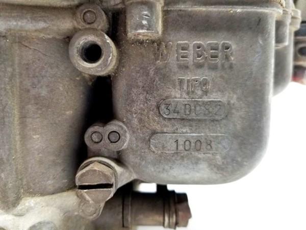 WEBER 34 DCS 2 CARBURETTOR FIAT OSCA 1500/1600S SPIDER/CABRIOLET
