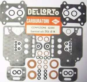 DELLORTO DHLA 48 TURBO CARBURETTOR GASKET/SERVICE KIT (TURBO)