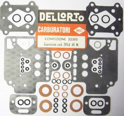 DELLORTO DHLA 48 TURBO CARBURETTOR GASKET / SERVICE KIT (TURBO)