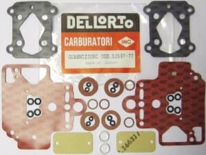 DELLORTO DHLA 45D & 45P CARBURETTOR GASKET / TEENUSE KIT - LOTUS TYPE