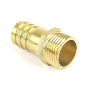 "BRASS 3 / 8 ""BSPT HOSE TAIL 14MM SUSTAV PIPE WEBER / DELLORTO CARBURETTOR MANIFOLDS ETIKE .."