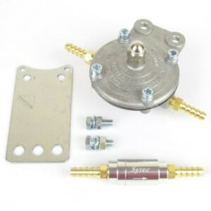 MALPASSI PETROL KING FUEL PRESSUR REGULATOR & ONE-WAY VALVE (6MM HOSE BESCHÄFTUNGEN)