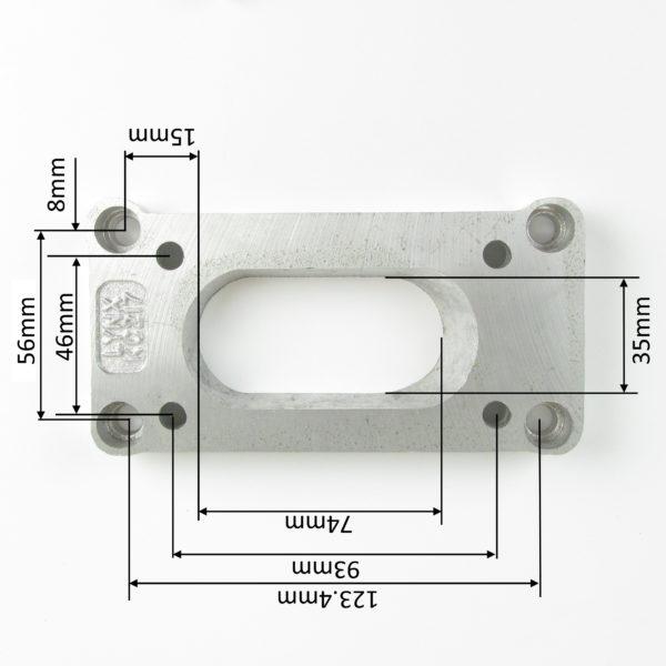 WEBER DGAV / DGV / DGAS CARBURADOR INTAKE MANIFOLD ADAPTER PLATE (TOYOTA)