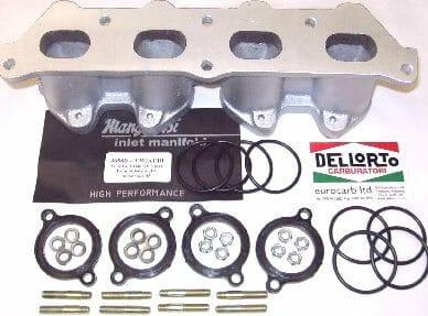 Classic Mini la serie Admisión//Colector De Admisión Weber//45 DCOE//DHLA Carburador Dellorto