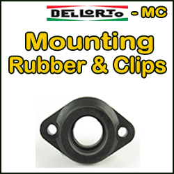 DELLORTO MC Manifolds, Mount Rubbers & Clips
