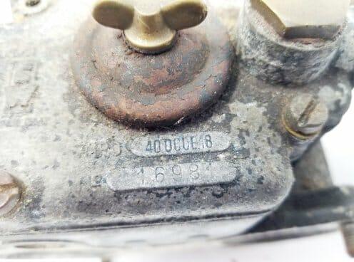 ORIGINAL WEBER 40 DCOE 18 CARBURETTORS FOR SALE (FOR RESTORATION)