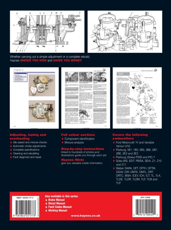 RAYUAL BOOK HAYNES SOLEX / FOMOCO / PIERBURG / WEBER CARBURETTOR RADIONICA