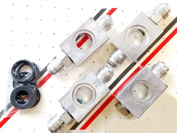 WEBER 48 IDA CARBURETTOR FUEL UNION/BLOCK KIT TO SUIT V8 ENGINE INSTALLATIONS