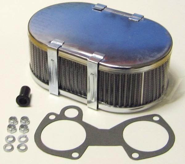 WEBER/DELLORTO/SOLEX CARBURETTOR CHROME DHLA/DCOE AIR FILTER 63MM